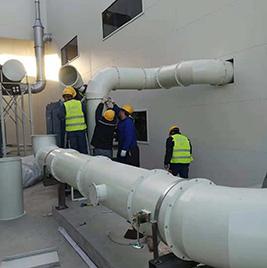 为大连住化复合朔料有限公司油雾管道、除尘管道制作与施工